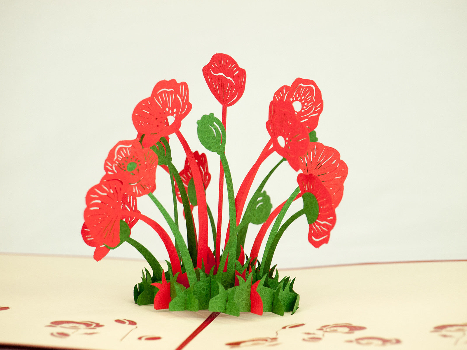Poppy 3D Creative Pop Up Card