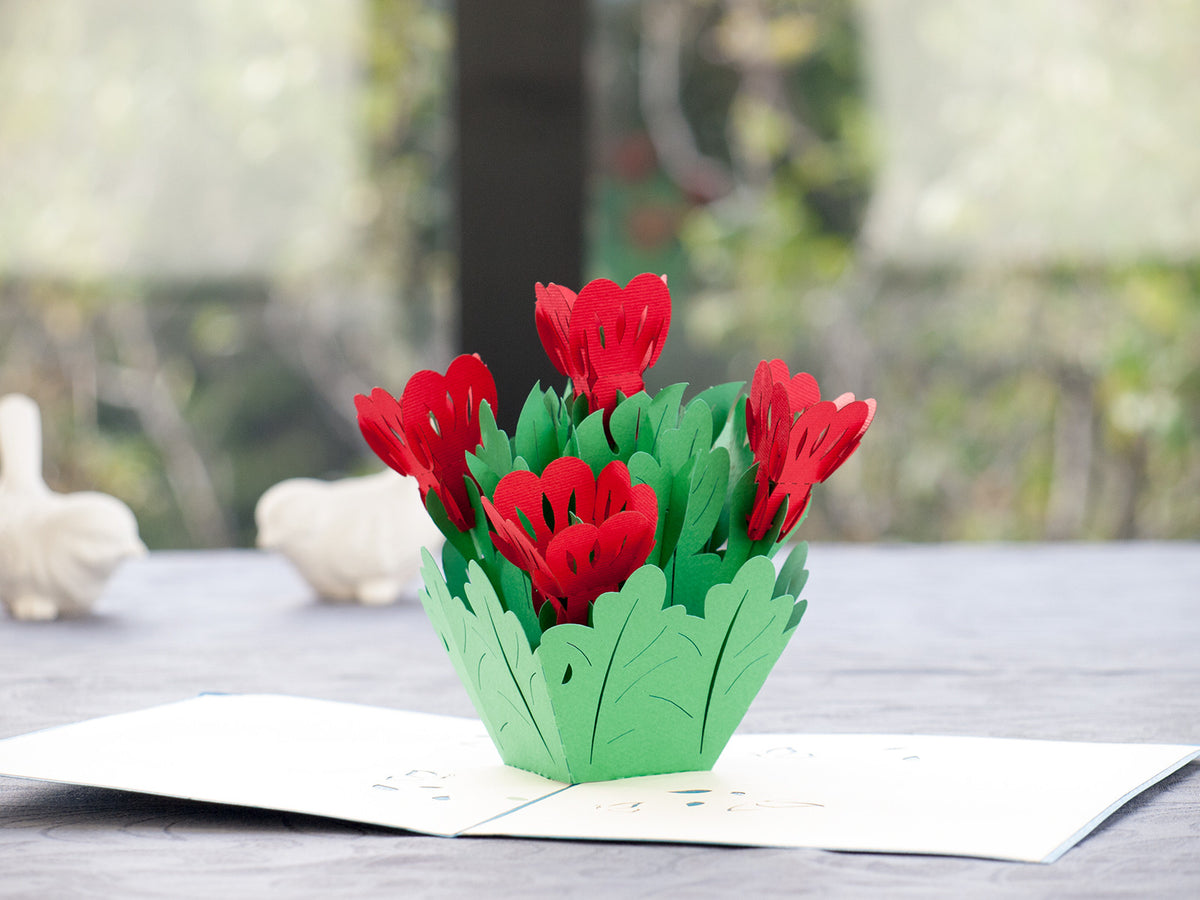 Bunch of flower 3D Creative Pop Up Card