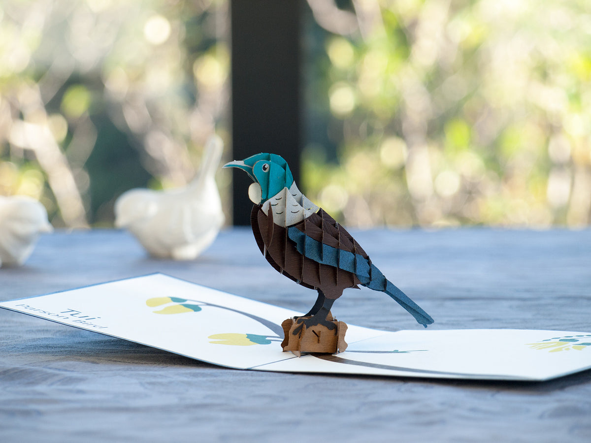 New Zealand Tui 3D Creative Pop Up Card