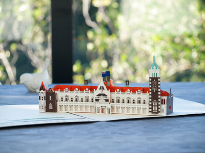 Dunedin Railway Station 3D Pop-Up Card - Side view
