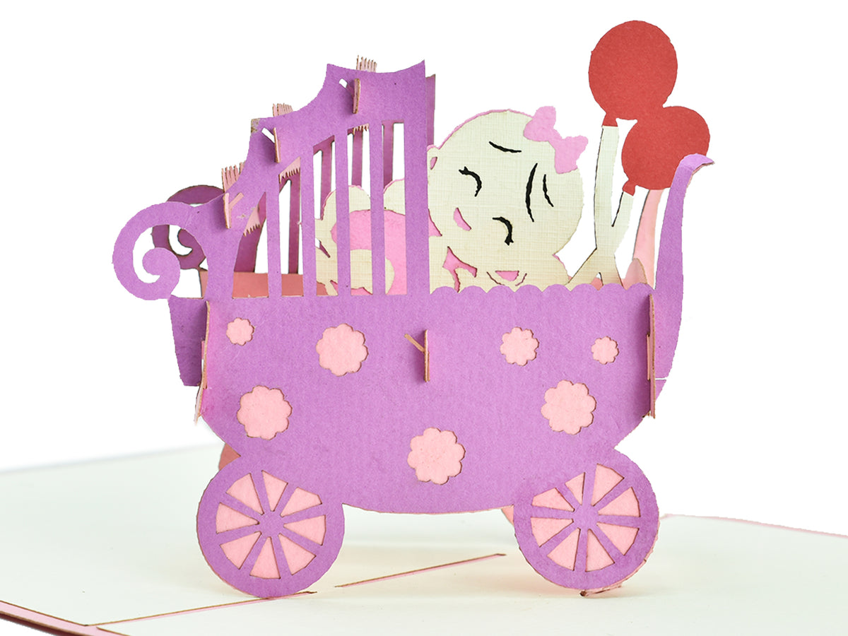 Congrats on Your Baby Girl 3D Creative Pop Up Card