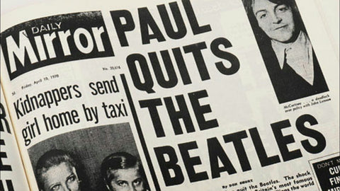 Paul Quits The Beatles