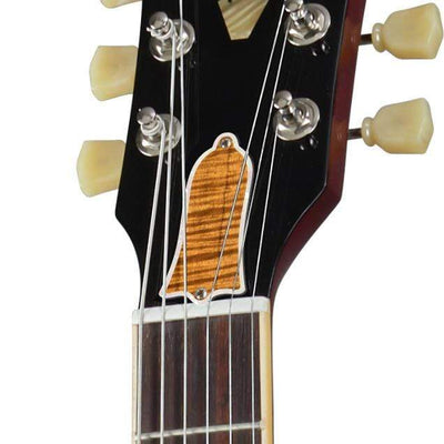 GibsonbyThalia Custom Parts AAA Curly Hawaiian Koa | ES-335 Custom Parts Truss Rod Cover / Sixties Cherry