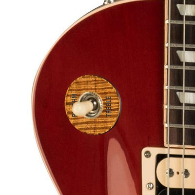 GibsonbyThalia Custom Parts Gibson Accessories Les Paul Toggle Switch Washer | Genuine Exotic Wood & Shell AAA Curly Koa / Cherry Sunburst