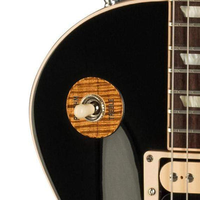 GibsonbyThalia Custom Parts Gibson Accessories Les Paul Toggle Switch Washer | Genuine Exotic Wood & Shell AAA Curly Koa / Ebony