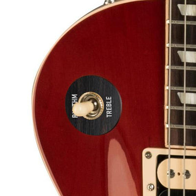 GibsonbyThalia Custom Parts Gibson Accessories Les Paul Toggle Switch Washer | Genuine Exotic Wood & Shell Black Ebony / Cherry Sunburst