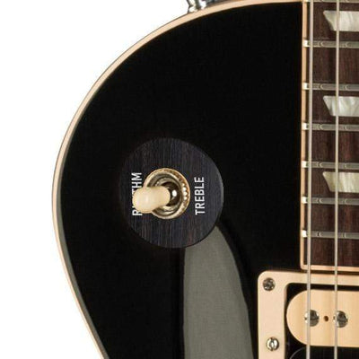 GibsonbyThalia Custom Parts Gibson Accessories Les Paul Toggle Switch Washer | Genuine Exotic Wood & Shell Black Ebony / Ebony