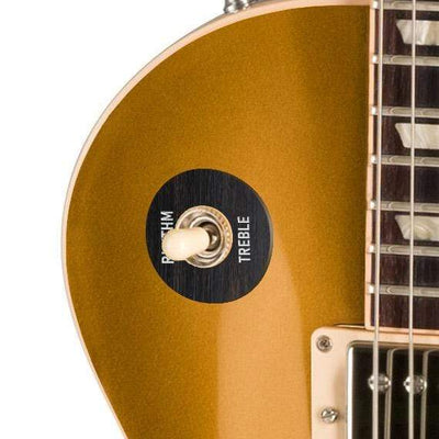 GibsonbyThalia Custom Parts Gibson Accessories Les Paul Toggle Switch Washer | Genuine Exotic Wood & Shell Black Ebony / Goldtop
