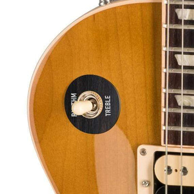 GibsonbyThalia Custom Parts Gibson Accessories Les Paul Toggle Switch Washer | Genuine Exotic Wood & Shell Black Ebony / Honeyburst