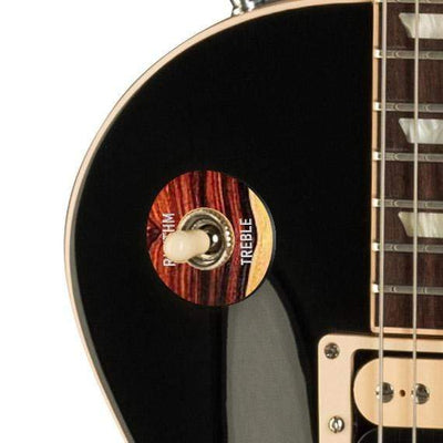 GibsonbyThalia Custom Parts Gibson Accessories Les Paul Toggle Switch Washer | Genuine Exotic Wood & Shell Cocobolo / Ebony