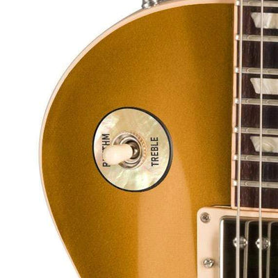 GibsonbyThalia Custom Parts Gibson Accessories Les Paul Toggle Switch Washer | Genuine Exotic Wood & Shell Ebony Dragon Scales / Goldtop