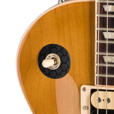 GibsonbyThalia Custom Parts Gibson Accessories Les Paul Toggle Switch Washer | Genuine Exotic Wood & Shell Ebony Dragon Scales / Honeyburst