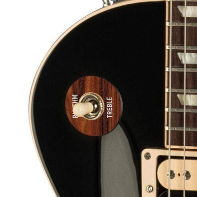 GibsonbyThalia Custom Parts Gibson Accessories Les Paul Toggle Switch Washer | Genuine Exotic Wood & Shell Santos Rosewood / Ebony