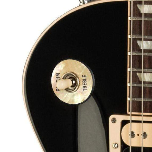 GibsonbyThalia Custom Parts Gibson Les Paul Toggle Switch Washer | Genuine Exotic Wood & Shell White Mother of Pearl / Ebony
