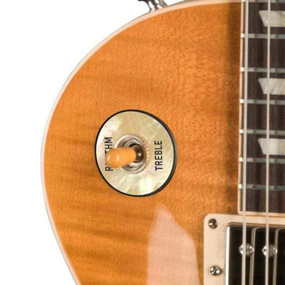 GibsonbyThalia Custom Parts Gibson Accessories Les Paul Toggle Switch Washer | Genuine Exotic Wood & Shell Vintage Mother of Pearl / Unburst