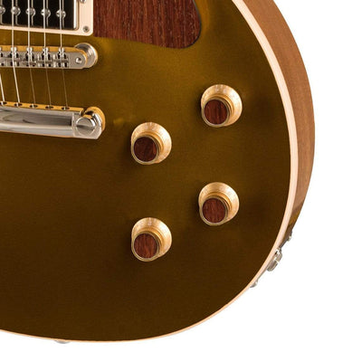 GibsonbyThalia Custom Parts Gibson Exotic Wood & Shell Gold Top Hat Knobs | Gibson Custom Parts Indian Rosewood / Goldtop