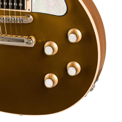 GibsonbyThalia Custom Parts Gibson Exotic Wood & Shell Gold Top Hat Knobs | Gibson Custom Parts White Mother of Pearl / Goldtop