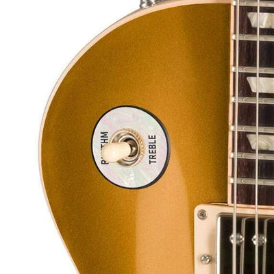 GibsonbyThalia Custom Parts Gibson Les Paul Toggle Switch Washer | Genuine Exotic Wood & Shell White Mother of Pearl / Goldtop