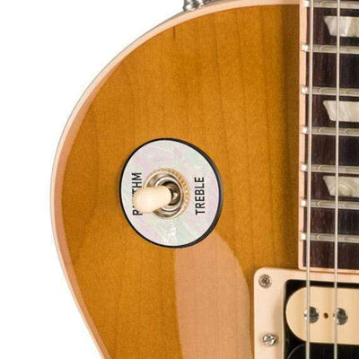 GibsonbyThalia Custom Parts Gibson Les Paul Toggle Switch Washer | Genuine Exotic Wood & Shell White Mother of Pearl / Honeyburst