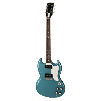GibsonbyThalia Custom Parts White Pearl | SG Custom Parts Complete Kit (Save $15) / Faded Pelham Blue