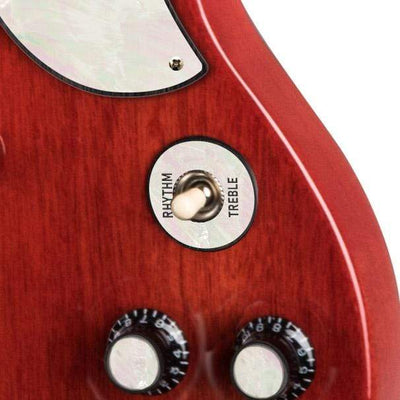 GibsonbyThalia Custom Parts White Pearl | SG Custom Parts Toggle Switch Washer / Vintage Cherry