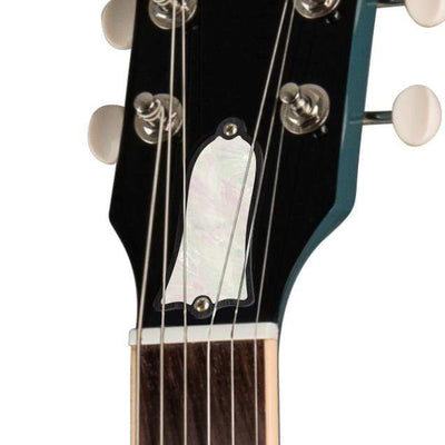 GibsonbyThalia Custom Parts White Pearl | SG Custom Parts Truss Rod Cover / Faded Pelham Blue