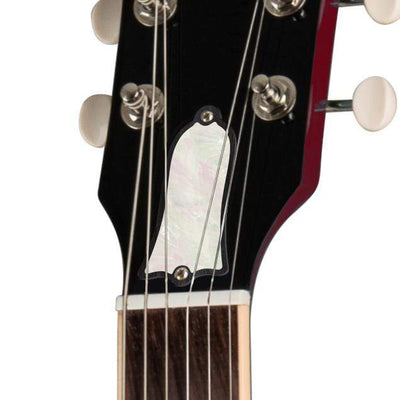 GibsonbyThalia Custom Parts White Pearl | SG Custom Parts Truss Rod Cover / Vintage Sparkling Burgundy