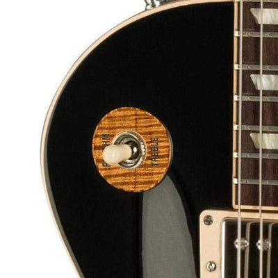 GibsonbyThalia Gibson Custom Parts AAA Curly Hawaiian Koa | Les Paul Custom Parts Toggle Switch Washer / Ebony / Covered