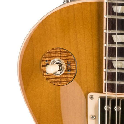 GibsonbyThalia Gibson Custom Parts AAA Curly Hawaiian Koa | Les Paul Custom Parts Toggle Switch Washer / Honeyburst / Covered