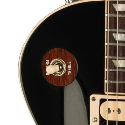 GibsonbyThalia Gibson Custom Parts Indian Rosewood | Les Paul Custom Parts Toggle Switch Washer / Ebony / Exposed