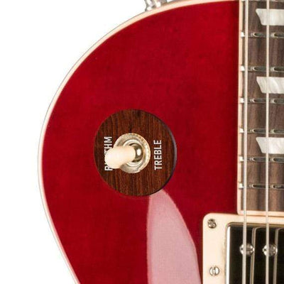 GibsonbyThalia Gibson Custom Parts Indian Rosewood | Les Paul Custom Parts Toggle Switch Washer / Translucent Cherry / Covered