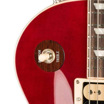 GibsonbyThalia Gibson Custom Parts Indian Rosewood | Les Paul Custom Parts Toggle Switch Washer / Translucent Cherry / Exposed