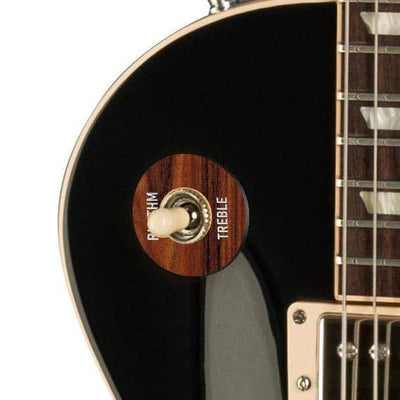 GibsonbyThalia Gibson Custom Parts Santos Rosewood | Les Paul Custom Parts Toggle Switch Washer / Ebony / Covered
