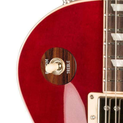 GibsonbyThalia Gibson Custom Parts Santos Rosewood | Les Paul Custom Parts Toggle Switch Washer / Translucent Cherry / Covered