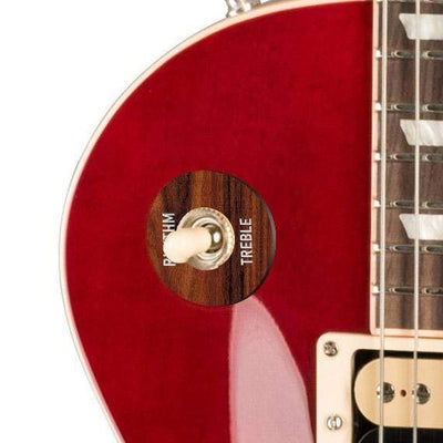 GibsonbyThalia Gibson Custom Parts Santos Rosewood | Les Paul Custom Parts Toggle Switch Washer / Translucent Cherry / Exposed