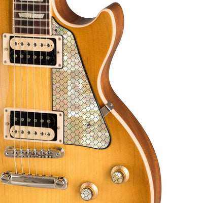 GibsonbyThalia Gibson Custom Parts Vintage Dragon Scales | Les Paul Custom Parts Pickguard / Honeyburst / Exposed