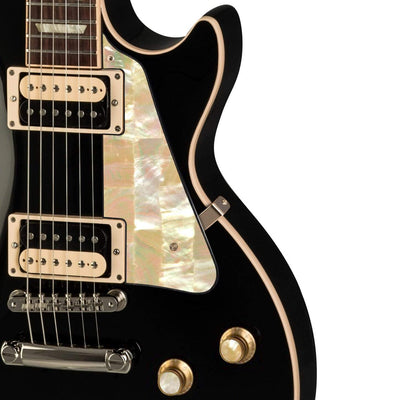 GibsonbyThalia Gibson Custom Parts Vintage Pearl | Les Paul Custom Parts Pickguard / Ebony / Exposed