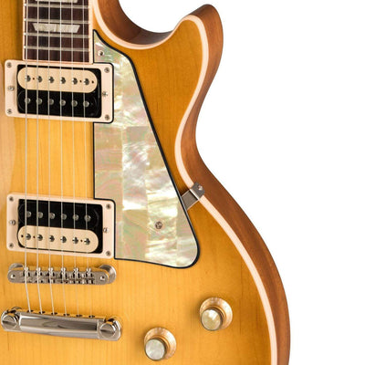 GibsonbyThalia Gibson Custom Parts Vintage Pearl | Les Paul Custom Parts Pickguard / Honeyburst / Exposed