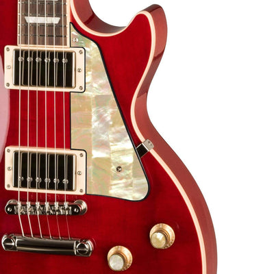 GibsonbyThalia Gibson Custom Parts Vintage Pearl | Les Paul Custom Parts Pickguard / Translucent Cherry / Covered