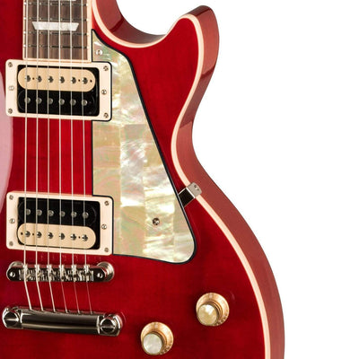 GibsonbyThalia Gibson Custom Parts Vintage Pearl | Les Paul Custom Parts Pickguard / Translucent Cherry / Exposed