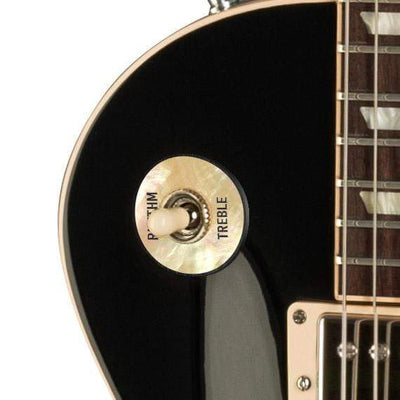 GibsonbyThalia Gibson Custom Parts Vintage Pearl | Les Paul Custom Parts Toggle Switch Washer / Ebony / Covered
