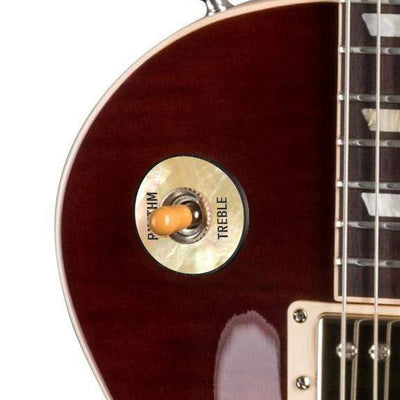 GibsonbyThalia Gibson Custom Parts Vintage Pearl | Les Paul Custom Parts Toggle Switch Washer / Iced Tea / Covered
