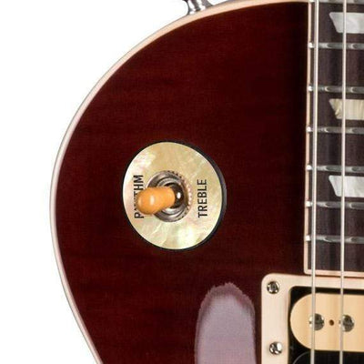 GibsonbyThalia Gibson Custom Parts Vintage Pearl | Les Paul Custom Parts Toggle Switch Washer / Iced Tea / Exposed