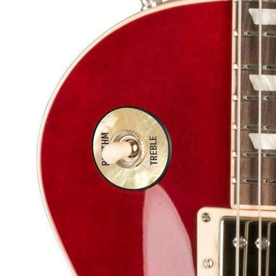 GibsonbyThalia Gibson Custom Parts Vintage Pearl | Les Paul Custom Parts Toggle Switch Washer / Translucent Cherry / Covered