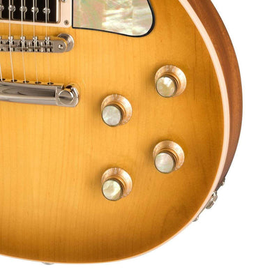 GibsonbyThalia Gibson Custom Parts Vintage Pearl | Les Paul Custom Parts Top Hat Knobs / Honeyburst / Covered
