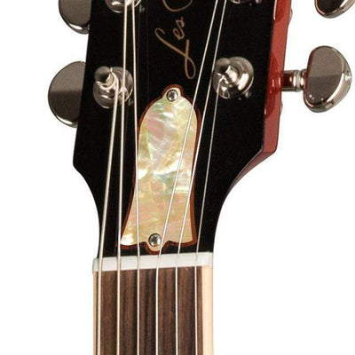 GibsonbyThalia Gibson Custom Parts Vintage Pearl | Les Paul Custom Parts Truss Rod Cover / Translucent Cherry / Exposed