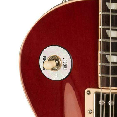 GibsonbyThalia Gibson Custom Parts White Mother of Pearl | Les Paul Custom Parts Toggle Switch Washer / Cherry Sunburst / Covered