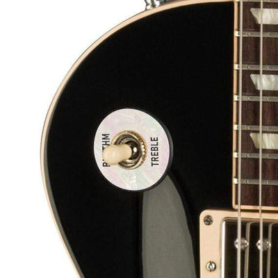 GibsonbyThalia Gibson Custom Parts White Mother of Pearl | Les Paul Custom Parts Toggle Switch Washer / Ebony / Covered