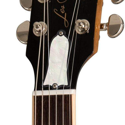 GibsonbyThalia Gibson Custom Parts White Mother of Pearl | Les Paul Custom Parts Truss Rod Cover / Honeyburst / Covered