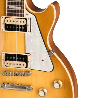 GibsonbyThalia Gibson Custom Parts White Pearl | Les Paul Custom Parts Pickguard / Honeyburst / Exposed